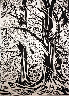 landscape paper cut - Google Search