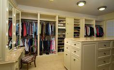 Walk-In Closet with vanity