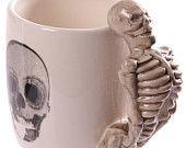 Coffee Mug Novelty Skeleton Design Shaped Skull Handle Mugs Cup Gift Idea  £9.99