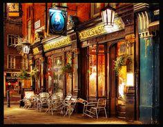 London Pub - Get a .Pub for your London pub London Pubs, London City, Britain Uk, Great Britain, Cool Pictures, Cool Photos, Uk Pub, British Pub, Cafe House