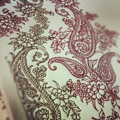 paisley letterpress wedding invitations, perfect for a South Asian or multicultural wedding!