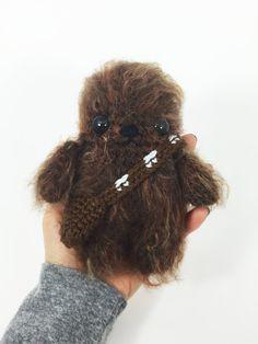 Crocheted Baby Chewbacca Crochet Star Wars Amigurumi by MossyMaze
