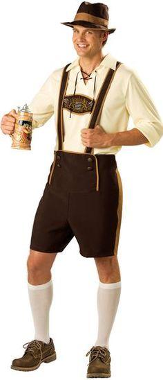 Authentic Allemande Bavaroise Oktoberfest Trachten Lederhosen Costume Homme Court Wear