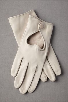 ivory leather gloves