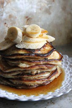 Banana Walnut Pancakes
