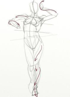 i like the pelvic shape. Human Anatomy Drawing, Gesture Drawing, Life Drawing, Drawing Sketches, Art Drawings, Contour Drawings, Drawing Faces, Drawing Tips, Figure Drawing Tutorial