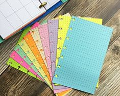 Colorful Paper Inserts for Notebooks & Planners par YellowPaperHouse Rainbow Pages, Create Yourself, Finding Yourself, Journal Pages, Journals, Budget Book, First Names, School Supplies, Budgeting