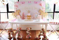 Floral Carousel Birthday Party on Kara's Party Ideas | KarasPartyIdeas.com (13)