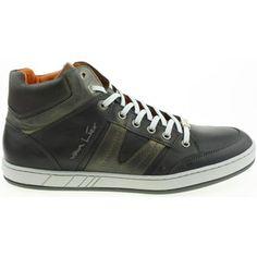 klassieke Van Lier heren hoge veterschoenen heren sneakers (Grijs)