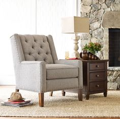 Tufted accent chair from the Rachael Ray Home Collection.