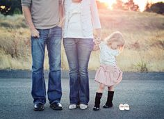 gender announcement with a pair of shoes!  I would have kids stand in line and focus on shoes. CUTE