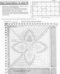 "Photo from album ""Anchor Elegant Pineapple lace crochet"" on Yandex. Picot Crochet, Crochet Towel, Crochet Motif, Crochet Doilies, Crochet Patterns, Crochet Bedspread, Crochet Tablecloth, Embroidery Patterns, Cross Stitch Patterns"