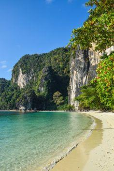 Hong Island, Krabi Thailand - Just a short longtail boat ride from Ao Nang, this island was one of my favorites in Phang Nga Bay