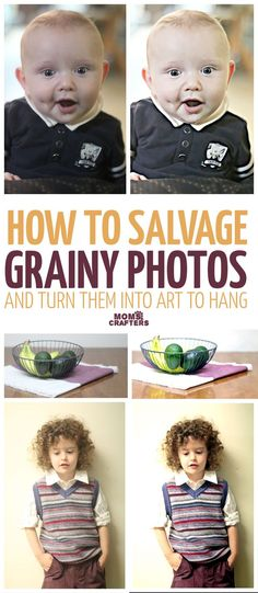 I discovered this cool way to salvage grainy photos - somehow all my best children's photos seem to blur or come out grainy. These kids photography tips help to salvage them and turn them into art for framing and using as home decor. Sponsored by BeFunky