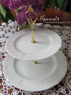 DIY cake/cookie/muffin stand I DIY emeletes sütikínáló : így készült leírással *Manzard9