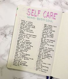 Self-Care in the Bullet Journal