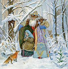 """Просмотреть иллюстрацию полный вариант """" Морозко """" из сообщества русскоязычных художников автора Люда Пипченко в стилях: Реализм, нарисованная техниками: Смешанная техника."""