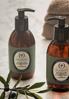 "Made in Provence, this hand lotion is enriched with olive oil, known for its nourishing properties. Its creamy texture penetrates quickly and hydrates your hands while enveloping them with a subtle ""green fruity fragrance"", fresh and vegetal. Presented in an elegant 9.8oz bottle with an transparent amber color that models our olive oil bottles."
