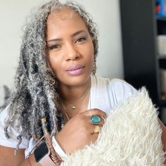 Grey White Hair, Silver Grey Hair, Gray Hair, Natural Afro Hairstyles, Ethnic Hairstyles, Natural Hair Styles, Silver Haired Beauties, Ageless Beauty, Hair Today