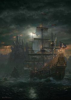 Piratenschiff - Metallbox - Sarel Theron 1000  - by Schmidt Spiele, German