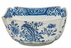 Bowl quadrangular em porcelana Companhia das Índias, de..