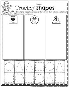 October Preschool Worksheets Fall Preschool Worksheets - Tracing Shapes cut, paste and sort. Shape Tracing Worksheets, Shape Worksheets For Preschool, Shapes Worksheet Kindergarten, Tracing Shapes, Cut And Paste Worksheets, Preschool Printables, Coloring Worksheets, Handwriting Worksheets, Free Worksheets