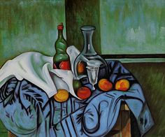 Cezanne - Still Life with Peppermint Bottle