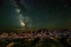 Bathed in starlight from the Milky Way, the unique rock formations of Badlands National Park in South Dakota glow in the darkness. The ancient landscape and fascinating fossil beds make this place seem timeless. This stunning photo was the winner in the night sky category of the Share the Experience photo contest, which gives amateur photographers the chance to showcase their skills by capturing the beauty of the nation's public lands.