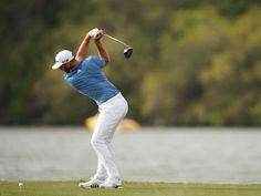 Dustin Johnson Hits 489 Yard Drive - DJ smashed a drive on the hole at Austin CC but the record shot will not count in the record books. Mens Golf Fashion, Dustin Johnson, Golf Drivers, Golf Attire, Dapper, Balls, Yard, Sporty, Play