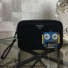 1aa90a5c09 Prada Nylon and Saffiano Leather Cosmetic Pouch 2018 Prada Outlet