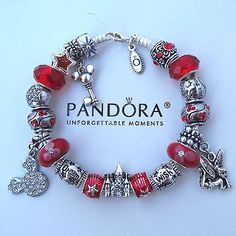Authentic Pandora Bracelet with Mickey Tinker Wish Dream Princess Castle Charms in Jewelry & Watches   eBay