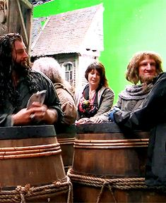 Lol, this is great! Ori's reaction is too good! (gif) Richard Armitage (Thorin) and Adam Brown (Ori)