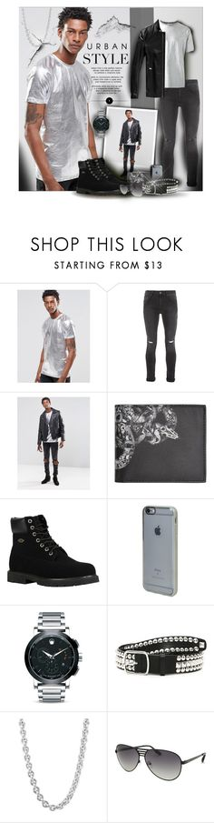 """""""Urban Style"""" by angelflair ❤ liked on Polyvore featuring ASOS, Topman, County Of Milan, Lugz, Incase, Movado, Dsquared2, John Hardy, AQS by Aquaswiss and men's fashion"""