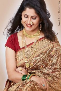 The beautiful smile of Marathi women