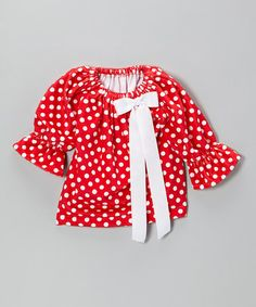 Look what I found on #zulily! Red Polka Dot Minky Priscilla Dress - Infant & Toddler by Caught Ya Lookin' #zulilyfinds
