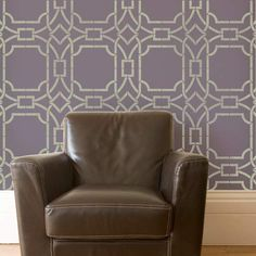 Modern Wall Stencils | Contempo Trellis Stencil | Royal Design Studio.  One potential pattern for the living room wall.