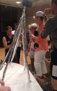the foil tower challenge - build the highest tower structure using only foil