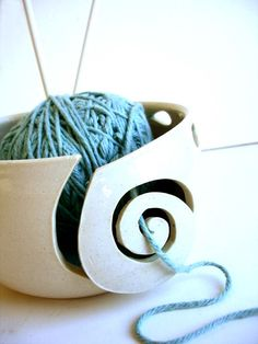do you love bowls? do you love yarn? then you'd love a yarn bowl!