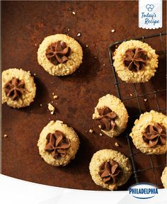 Every Chocolate-Hazelnut Thumbprint is distinct and delicious. Kind of like real thumbprints, but minus the delicious part.