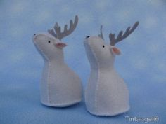 Winter animals  Reindeer by Tintangel on Etsy