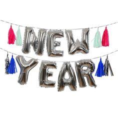 New Year Eve Party Balloons by Meri Meri http://theoriginalpartybagcompany.co.uk