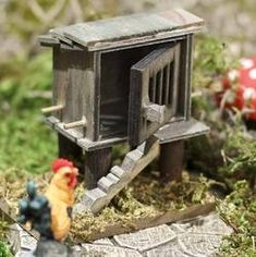 Miniature Wood Chicken Coop