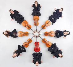 What is more #beautiful than a cello? Eight #cellos forming a #cello #mandala.