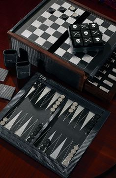 Ralph Lauren Home Bond 5-in-1 Game Set, including playing cards, checkers, backgammon, tic-tac-toe and chess