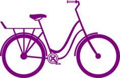 Purple Bike clip art - vector clip art online, royalty free & public domain