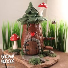 OOAK Gnome Home  Collector's Item by Artist Jennifer by GnomeWoods, $45.00
