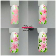 Gel Nail Designs You Should Try Out – Your Beautiful Nails Flower Nail Designs, Best Nail Art Designs, Flower Nail Art, Nail Art Modele, Nail Art Simple, One Stroke Nails, Easter Nail Art, Gel Nagel Design, Painted Nail Art
