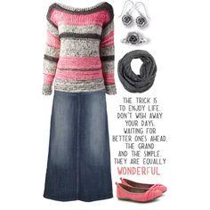 Pink 'N Grey, created by jamie-burditt on Polyvore
