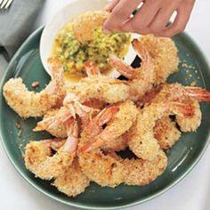 Coconut Shrimp with Pineapple-Cilantro Dip