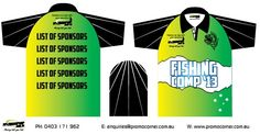 Custom Fishing shirts for you fishing club. Full-colour images printed on our sublimation fishing shirts will make your tournament one remember. Custom Fishing Shirts, Fish Design, The Incredibles, Australia, Fish Drawings, Australia Beach